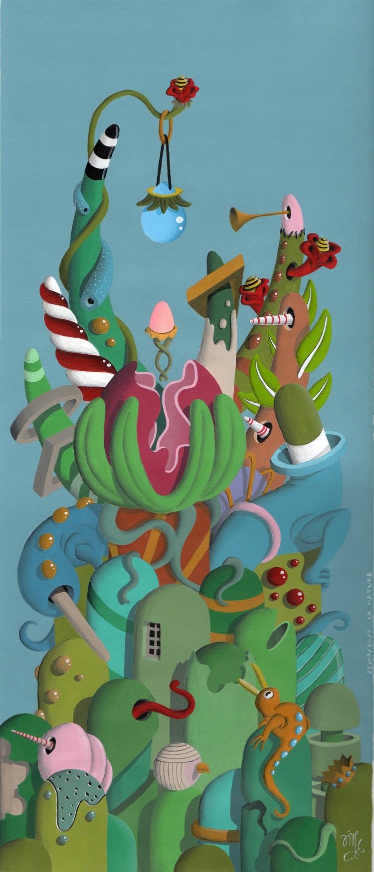 La Nature  - painting, art, paint - jimmy-p | ello