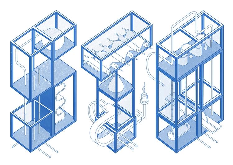 typography, illustration, isometric - tomrouleau   ello