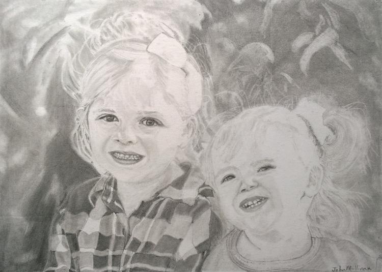 Sisters! Graphite pencil. SOLD - johnmullinax | ello