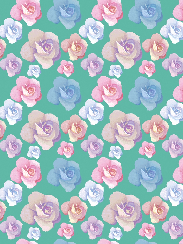Flowers spring. pointillism sty - svaeth | ello