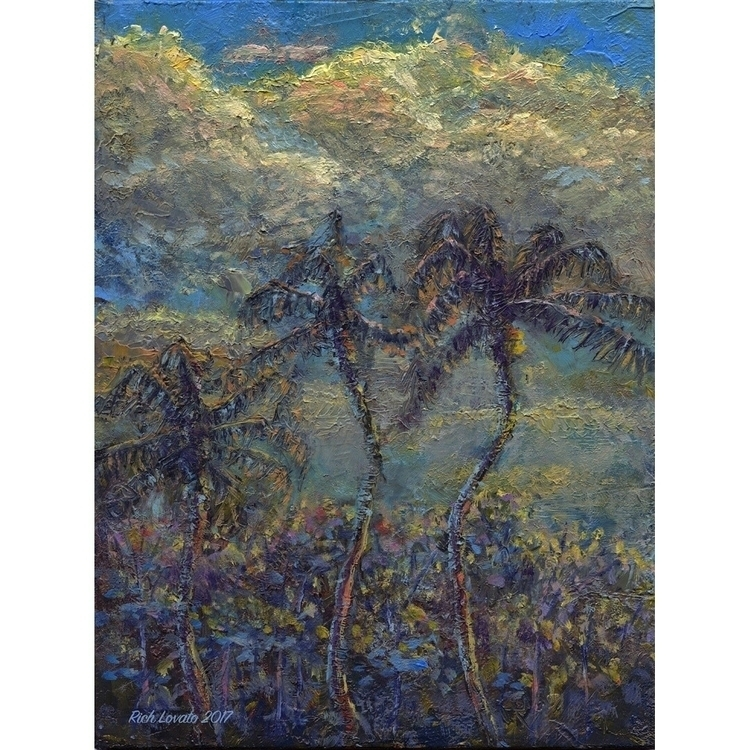 3 palms, finished Maui. Oil 6x  - richlovato | ello