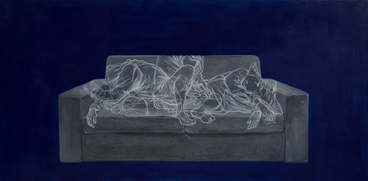 Grey Couch 2017, 100 50 cm, acr - yojoo | ello