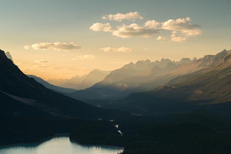 Alpine Glow - Peyto Lake, Banff - fadihage | ello