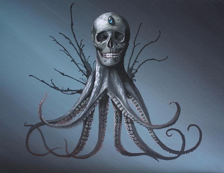 Creature, 9x12 acrylic canvas.  - bowenstuff | ello