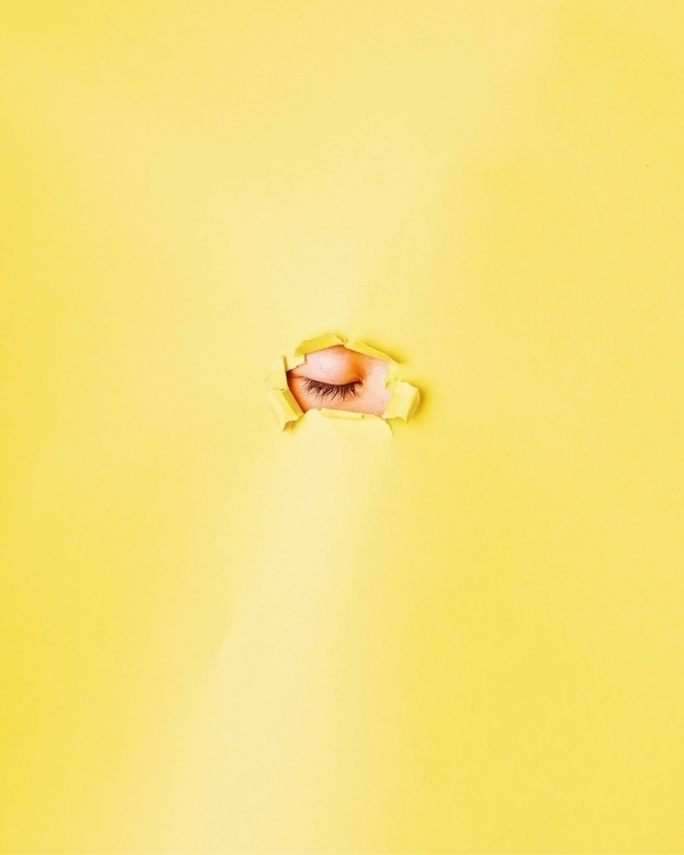 blink - minimal, yellow, eye, photography - codyguilfoyle | ello