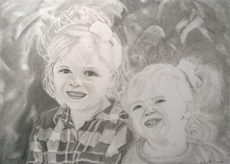 Sisters! Graphite pencil. SOLD - johnmullinax | ello
