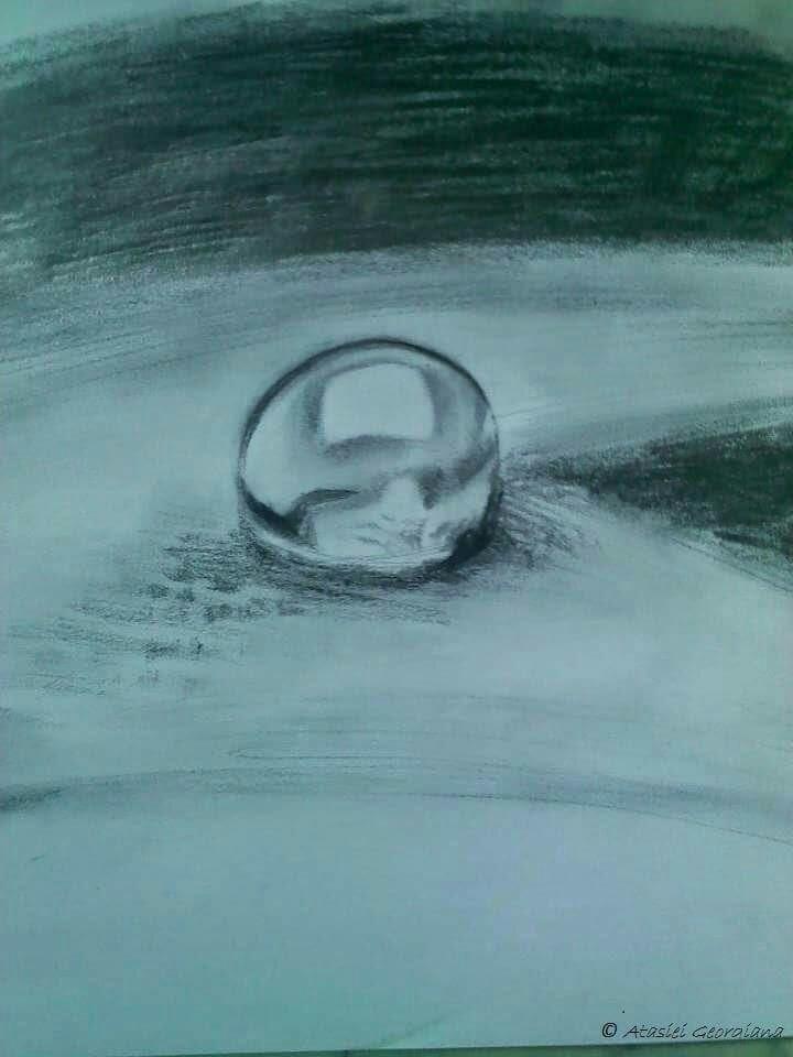 waterdrop, pencil - atasieigeo | ello