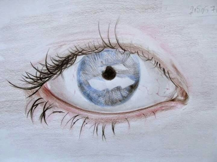 coloredpencils - eye5, woman, xeroxpaper - atasieigeo | ello