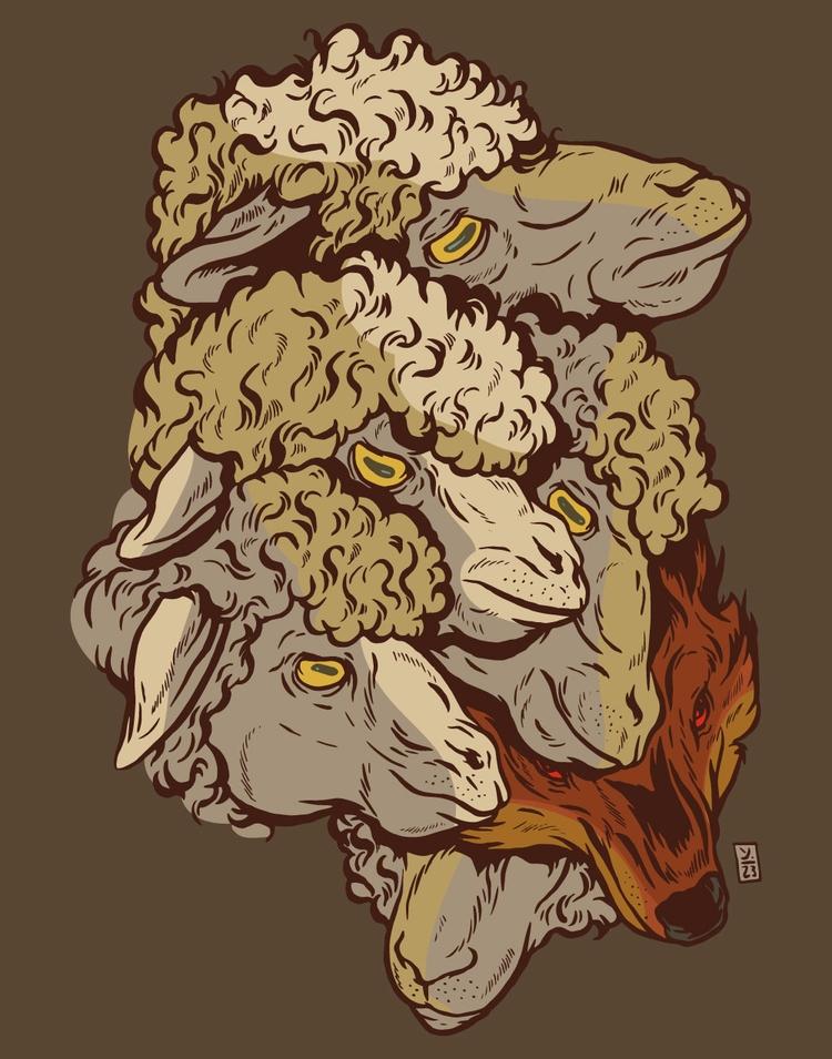 Wolf Midst - illustration - thomcat23 | ello