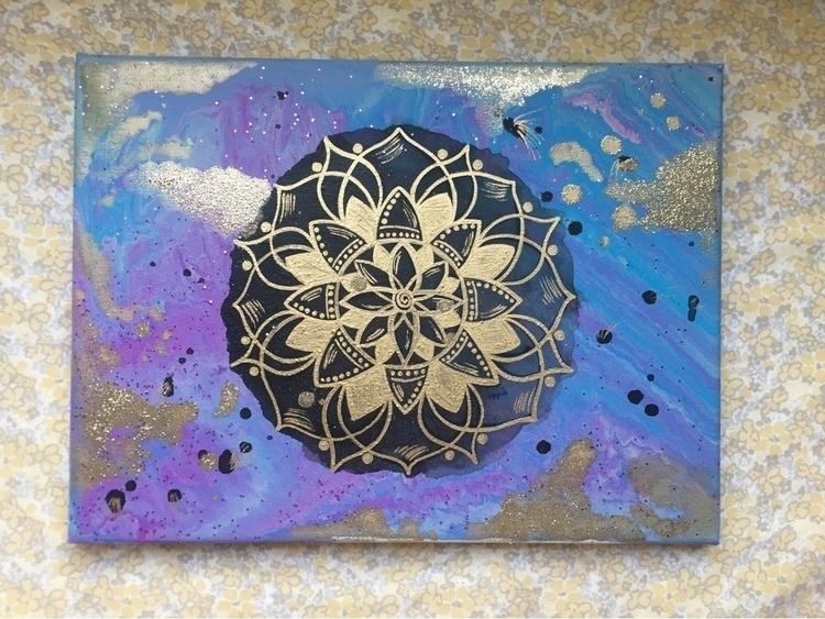 free, acrylic glitter canvas -  - artbykaylabraden | ello