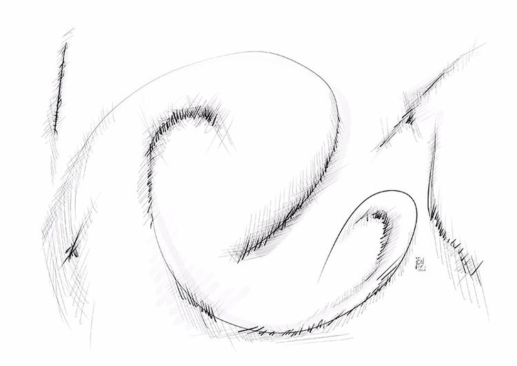 Paisaje abstracto 11 - abstractart - erisado | ello