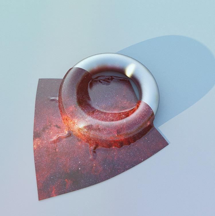 Black Hole - Chrome, Galaxy, Cloth - aaaronkaufman | ello