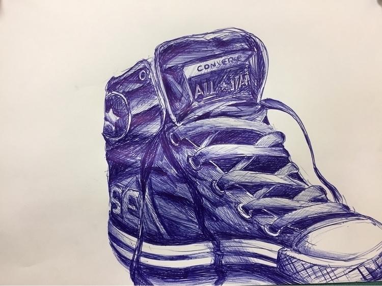 Chuck Pen paper 2017  - art, arte - chrisbinghamart | ello