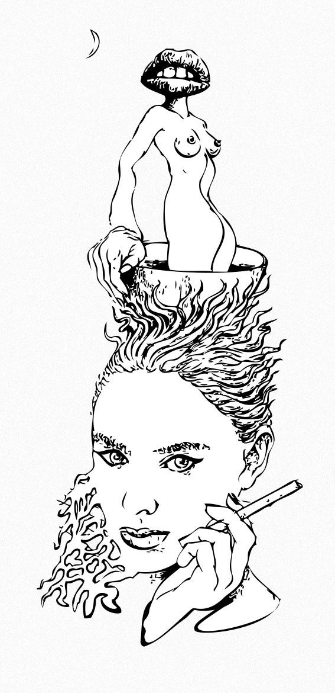 Surrealist Coffee Break Copyrig - borishart | ello