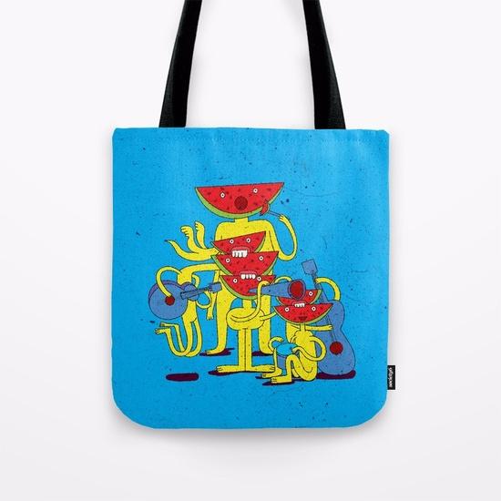 Watermelon Musician/ TOTE BAG - illustration - babakesmaeli | ello