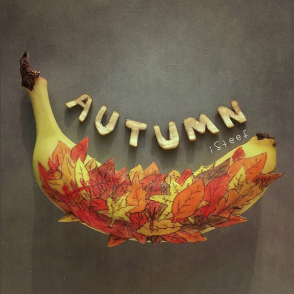 Happy Autumn art - banana, bananas - isteef | ello