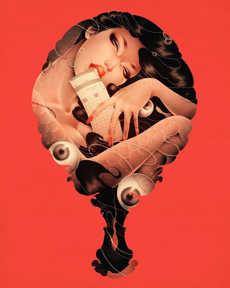 'Part-Time Mermaid' ONEQ, print - geekynerfherder | ello