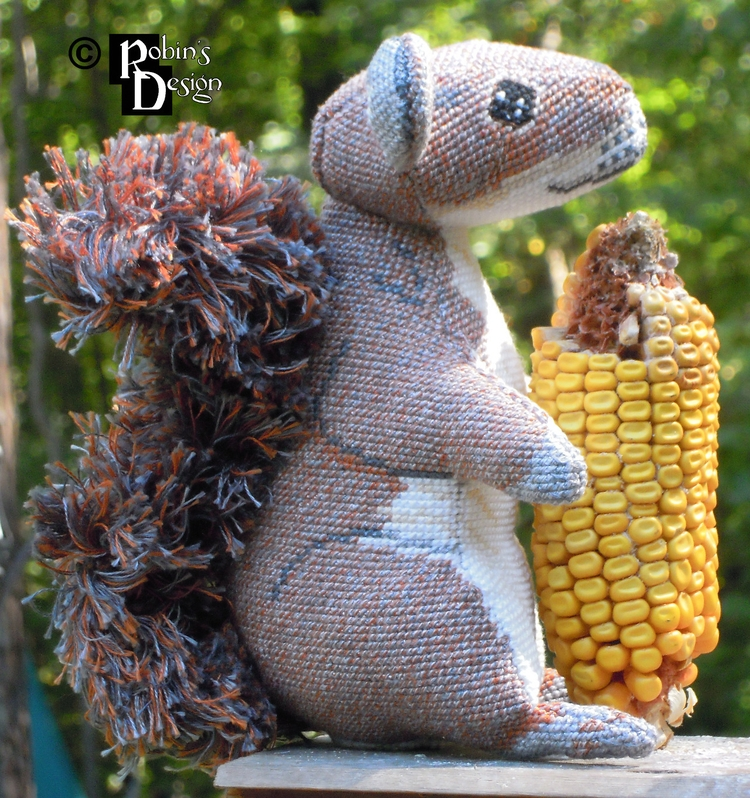 Merlin 3D Cross Stitch Squirrel - rhaben | ello