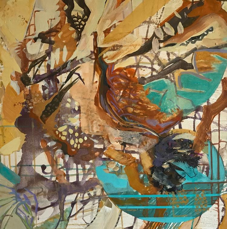 Osmosis, 24x24, acrylic canvas - janedell | ello