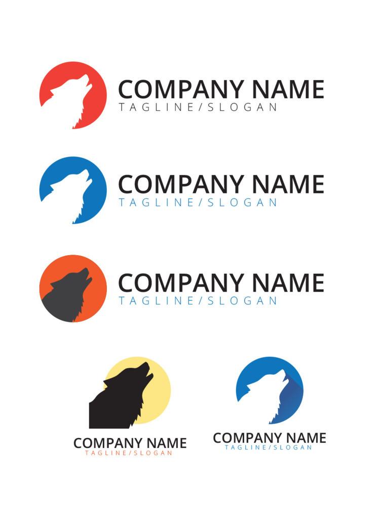 Wolf Logo, Concept, Mockup - Flat - wvw001 | ello