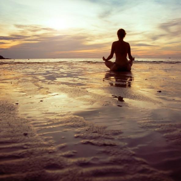 Beach meditation April Malmstee - aprilmalmsteen | ello