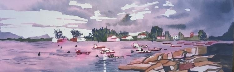 Galicia - watercolor, penandink - whitneysanford | ello