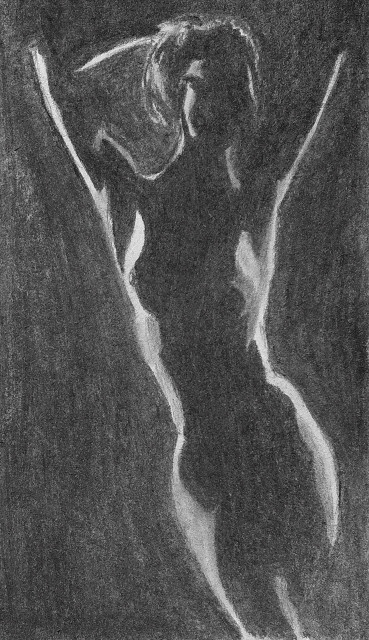 key sketch. Vine charcoal - figure - johnmullinax | ello