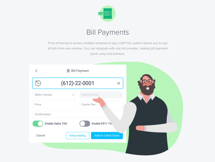 Bill Payments section brand Evo - dovhyi | ello