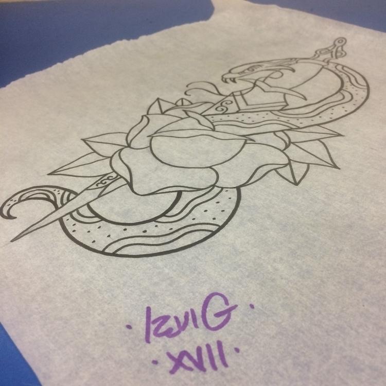grabs - Snake, rose, tattoo, design, - levigreenacres | ello