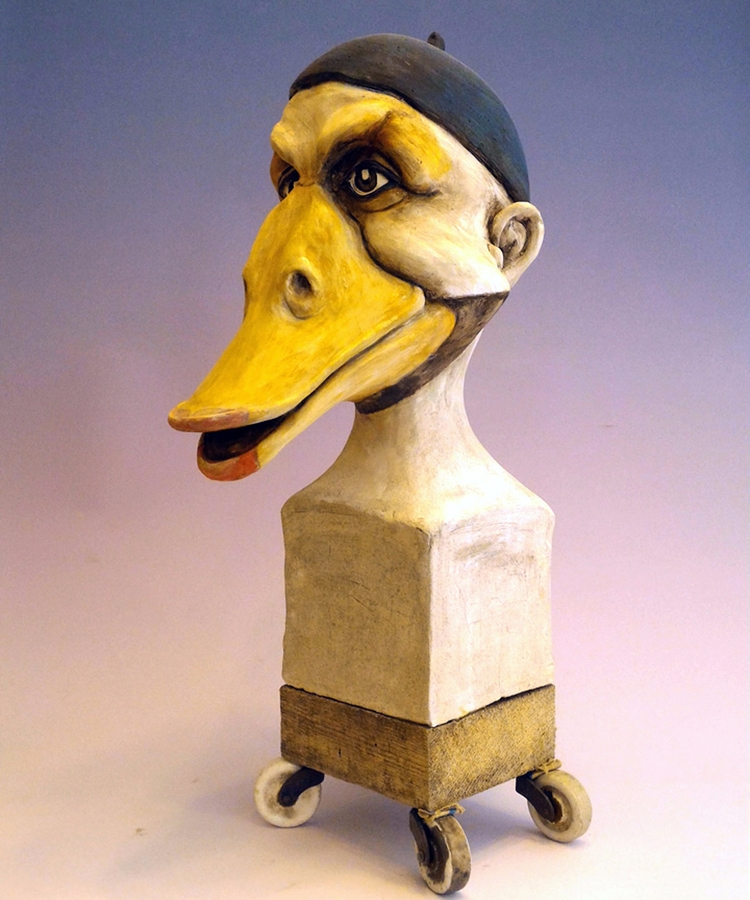 Duck wheels. ceramic statue Dir - dirkdahl | ello