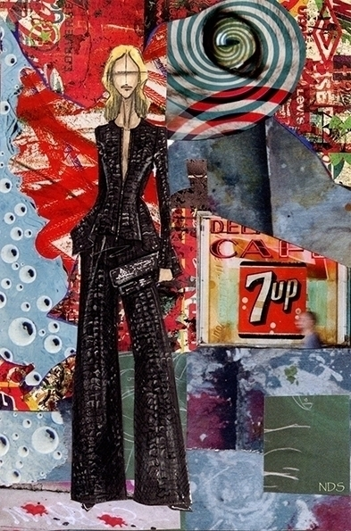 City Life Hand Cut Collage Post - strangeworld | ello