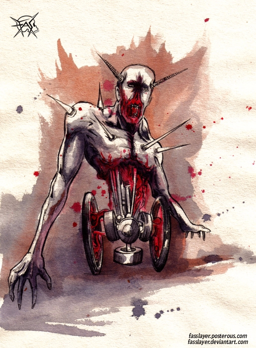 17-9-23 - zombie, horror, watercolor - fasslayer | ello