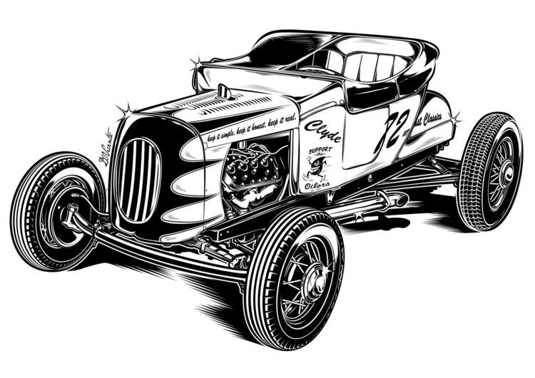 Design Clyde 1922 Ford Roadster - dvicente777 | ello