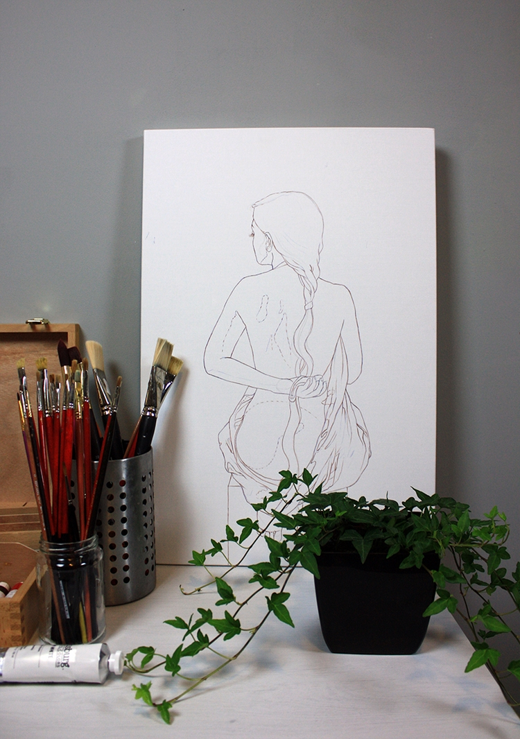 studio working outline painting - ania_tomicka | ello