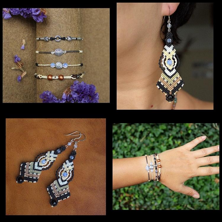 Set minimalistic bracelets micr - macrame_birbyzossleptuve | ello