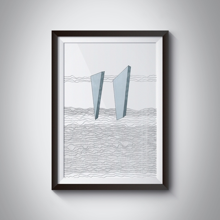 _Ilustration, 42x429,7 cm, ink - ilobahie | ello