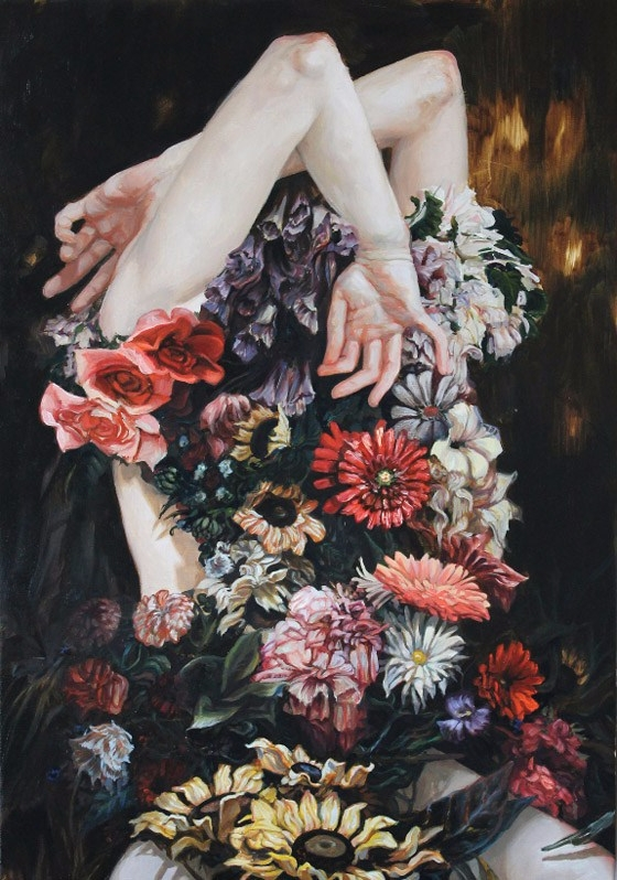 art, flowers, painting - deah_ahri | ello