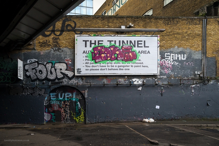 tunnel rules - graffiti, art, London - toni_ertl | ello