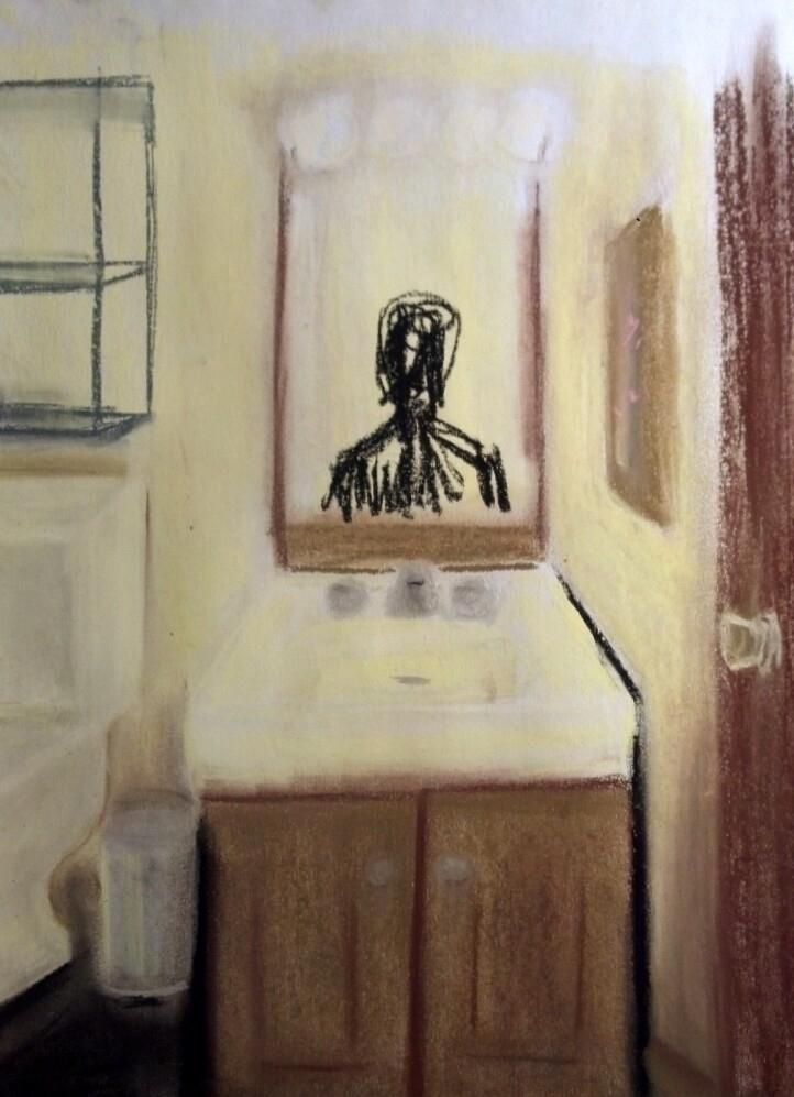 Bathroom Portrait series depict - chaos-reaper | ello