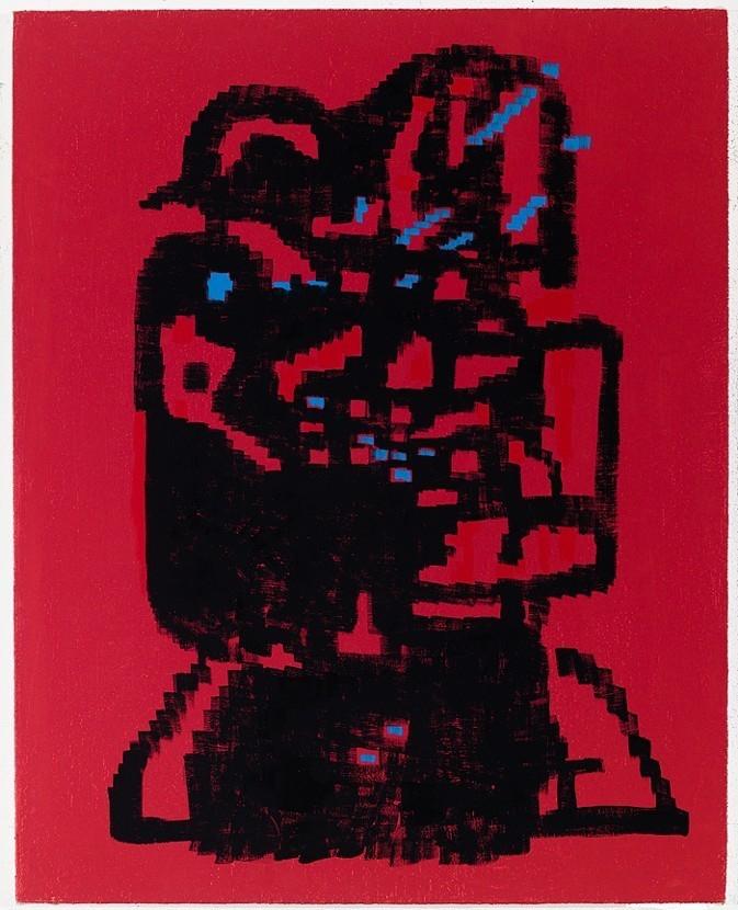 "EJ Hauser ""Statue Amphibian 3 - painting - modernism_is_crap | ello"
