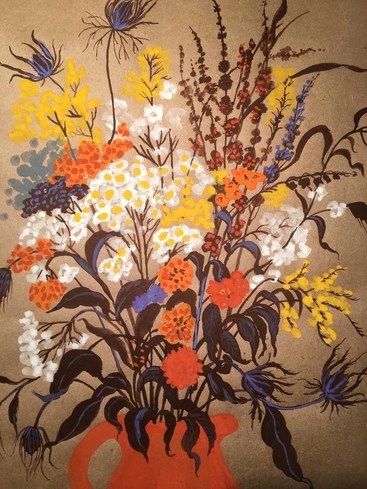 Autumn bouquet |gouache paintin - chulanova | ello