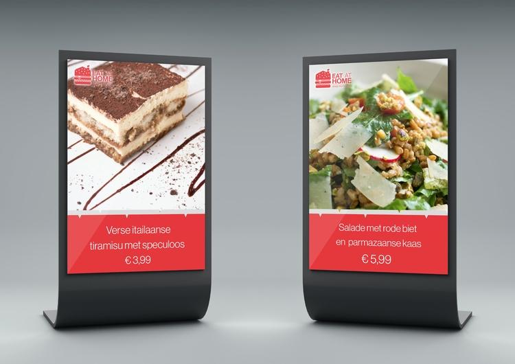 Eat Home branding (Displays - sinterclaas | ello