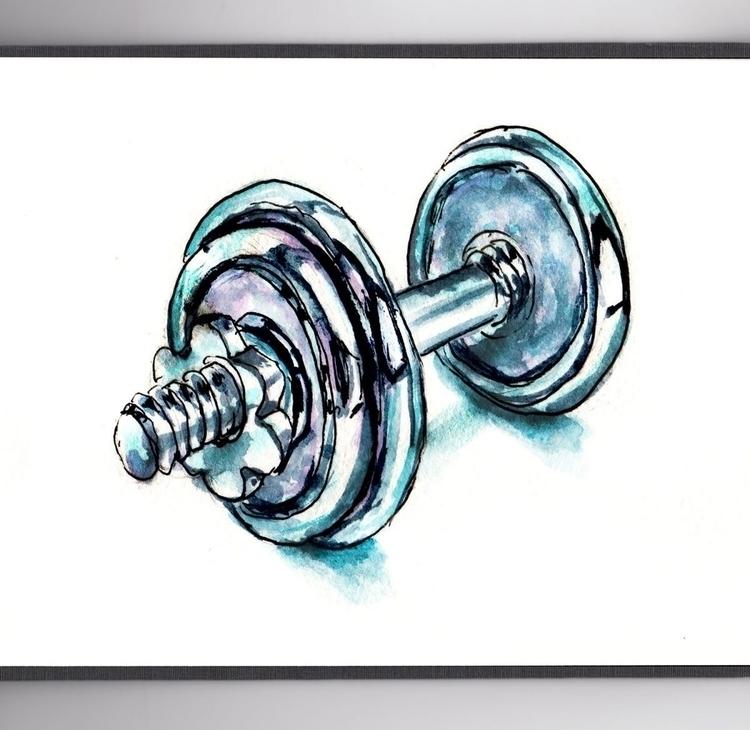 Bit Exercise  - DoodlewashClub, WorldWatercolorGroup - doodlewash | ello