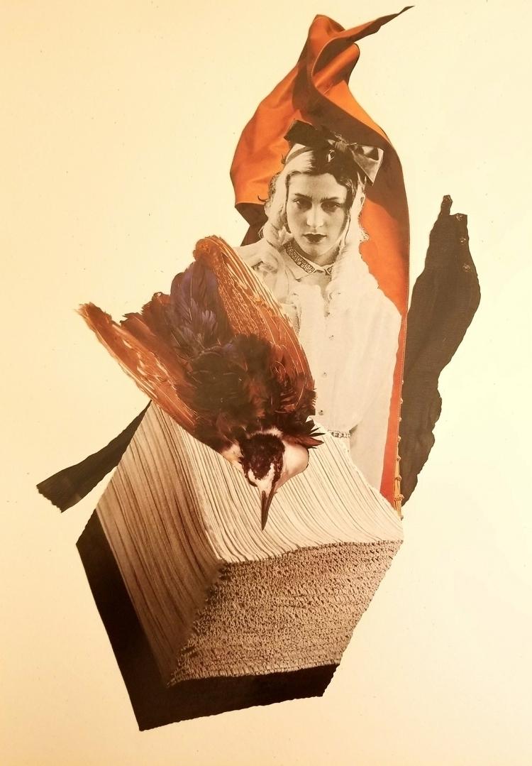 WIP inks - collage, collageart - curtispatrickarnold | ello