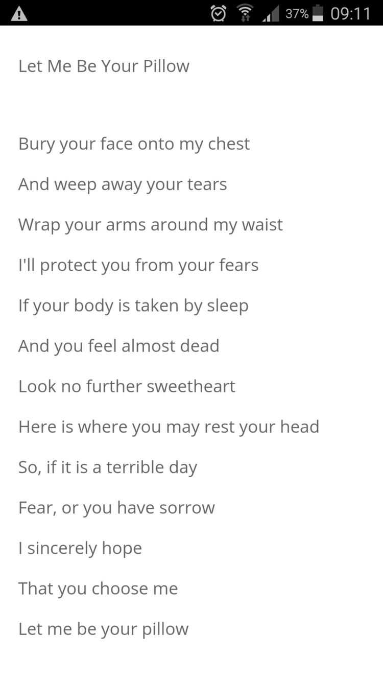 Link poem, Pillow - lovequotes, loveposts - humanityinpoetry | ello