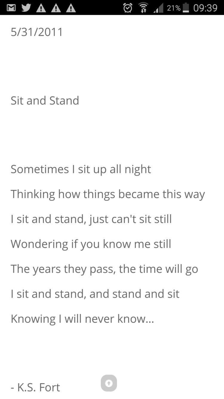 Link poem, Sit Stand - lovequotes - humanityinpoetry | ello