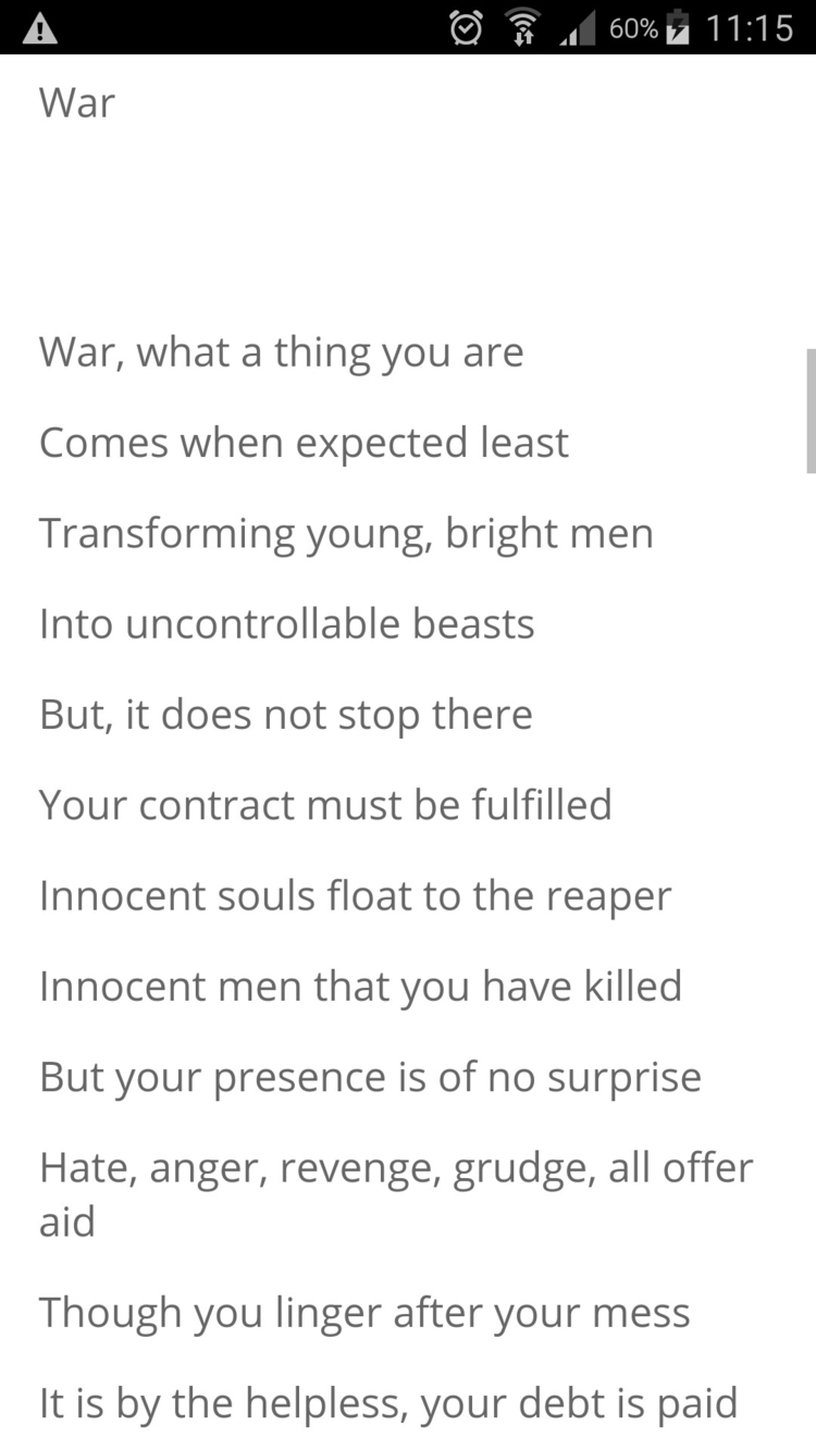 Link Poem, War - poetry, poet - humanityinpoetry | ello