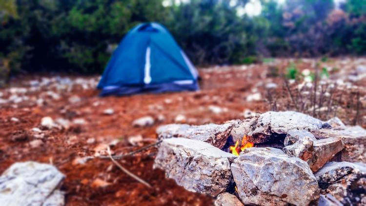 camping, trekking, fire, campfire - yabanyolu | ello