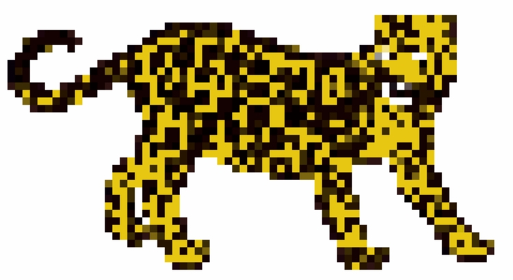 art, jaguar, pixelated - hug-fliesparadise | ello