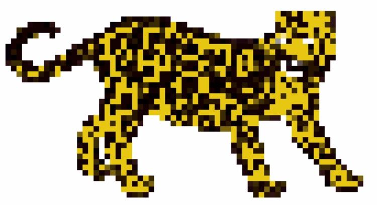 art, jaguar, pixelated - hug-fliesparadise | ello